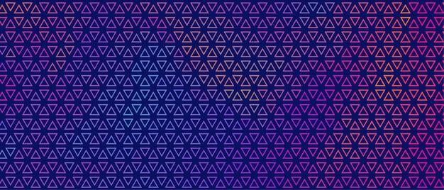抽象的なカラフルな小さな三角形パターンバナーデザイン 無料ベクター