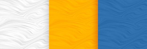 Набор абстрактных волнистой формы пустой фон Бесплатные векторы