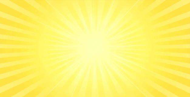 センターの輝く光の効果と黄色の背景 無料ベクター
