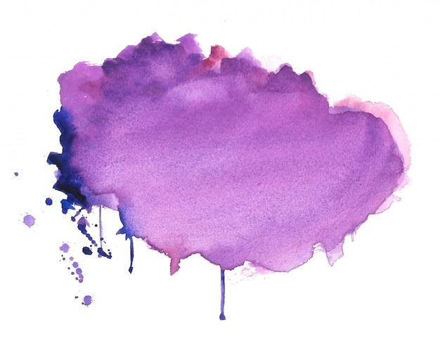 抽象的な紫水彩汚れテクスチャ背景 無料ベクター