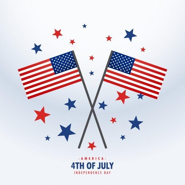 Американский флаг со звездами Бесплатные векторы
