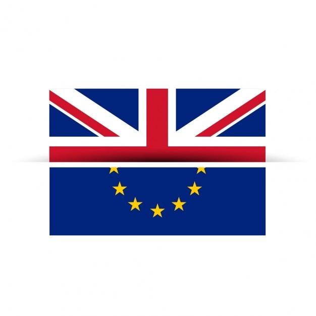 英国と欧州連合フラグは区切り取得します 無料ベクター