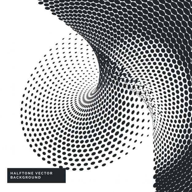 抽象点線のハーフトーンの背景 無料ベクター