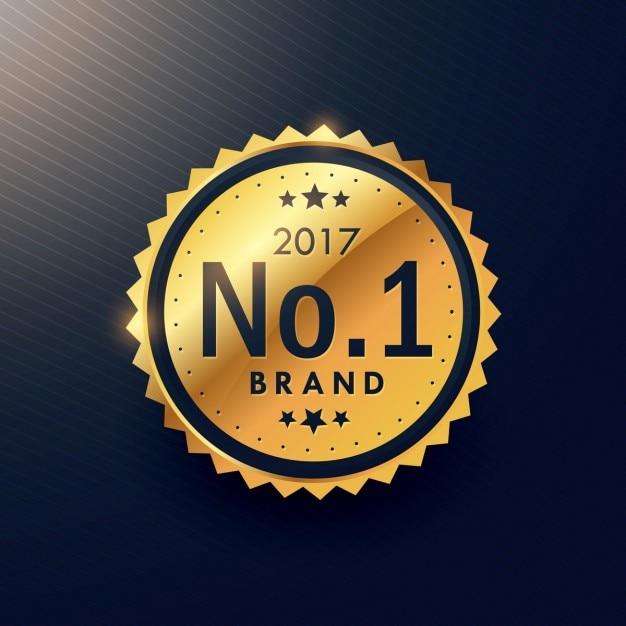 Номер один бренд золотой премиум класса люкс этикетки для рекламы вашего продвижения бренда Бесплатные векторы