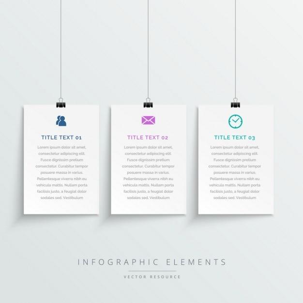 Удивительные висит белый баннеры инфографики шаблон Бесплатные векторы