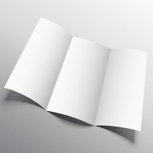 オープンパンフレット、モックアップ 無料ベクター