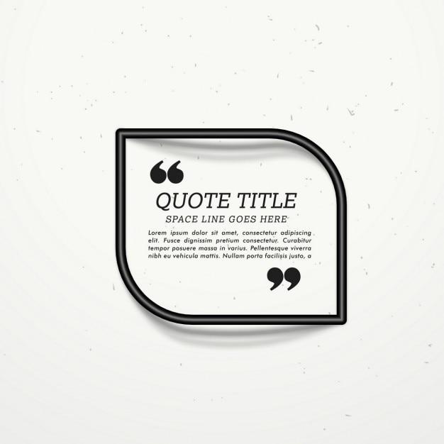 Черная рамка для цитаты с тенью Бесплатные векторы