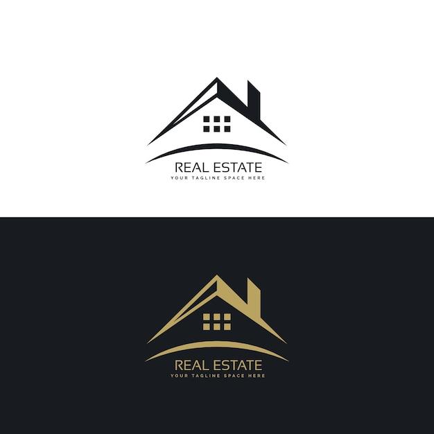 不動産のためのロゴデザイン 無料ベクター
