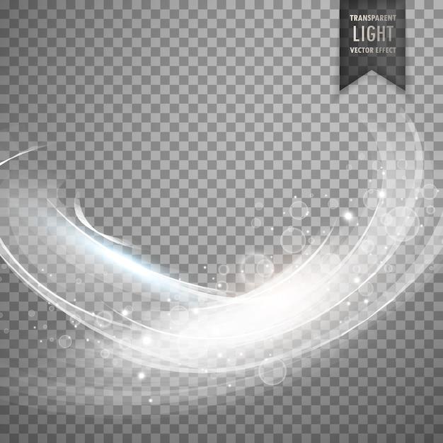 スタイリッシュな白い透明な光の効果の背景 無料ベクター