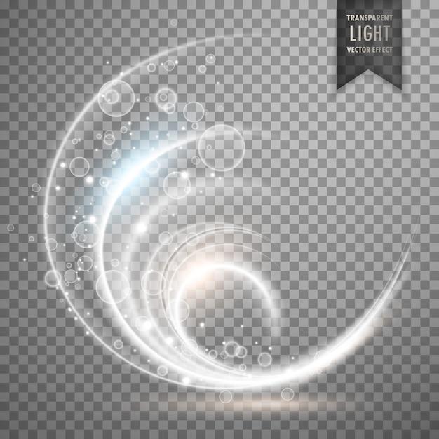白い透明な光の効果の背景 無料ベクター