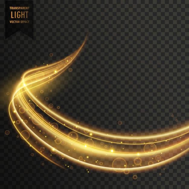 透明な金色の光効果ベクトル 無料ベクター