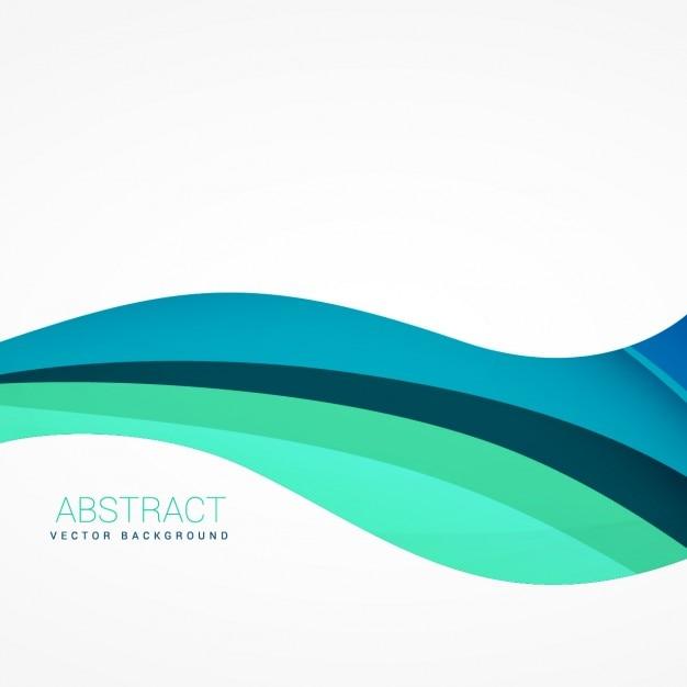 Волнистые фон в голубых тонах Бесплатные векторы