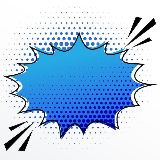 ハーフトーン効果で空白の漫画の音声バースト泡 無料ベクター