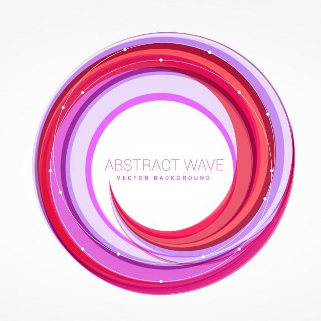抽象的な波の渦カラフルなベクトルの背景 無料ベクター