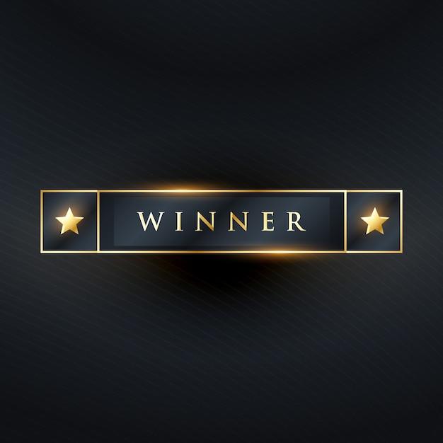 勝者のラベルやステッカーのデザインが暗い色で 無料ベクター