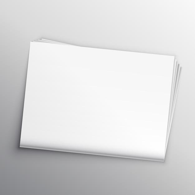 Шаблон шаблона для пустой газеты Бесплатные векторы