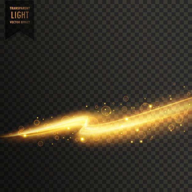 黄金の光ストーリー透明な光の効果の背景 無料ベクター