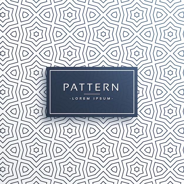 抽象スタイルのラインパターン背景デザイン 無料ベクター