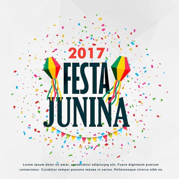 フェスタジュニア祝賀ポスターデザインで色とりどり 無料ベクター