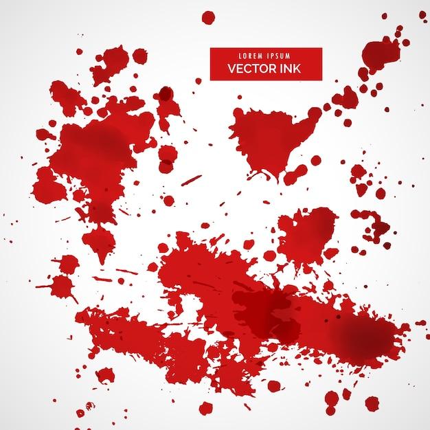 赤いインク飛沫の背景のコレクション 無料ベクター