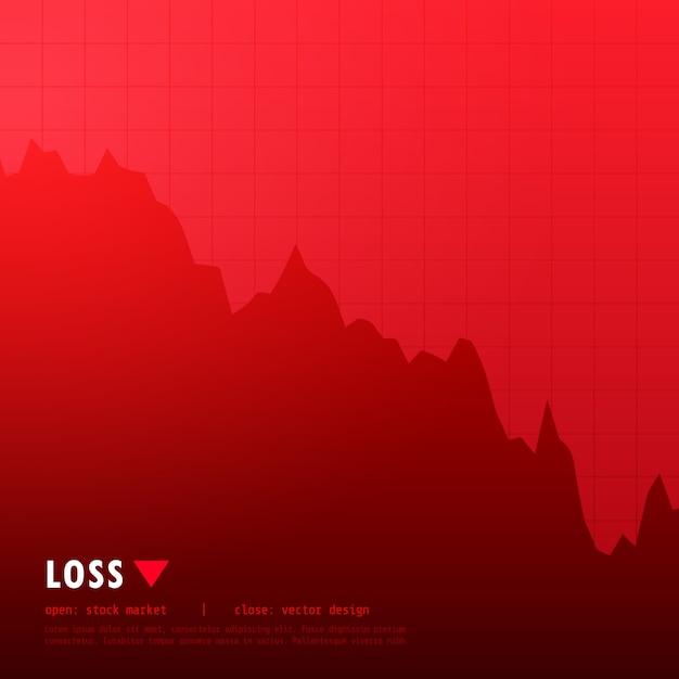 Дизайн красных потерь фондовый рынок Бесплатные векторы