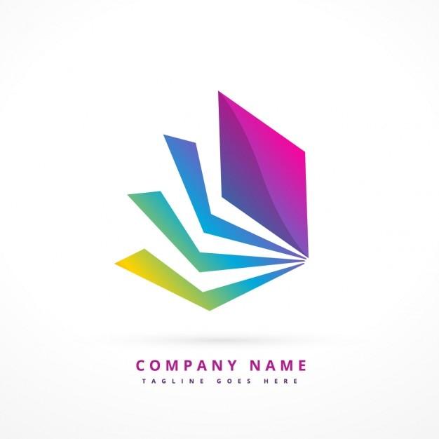 Абстрактная форма красочный логотип Бесплатные векторы