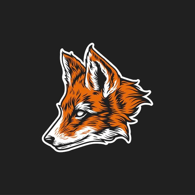 フォックスヘッドのロゴ Premiumベクター