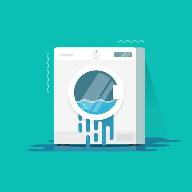 洗濯機の破損または破損したベクトルイラストフラット漫画 Premiumベクター