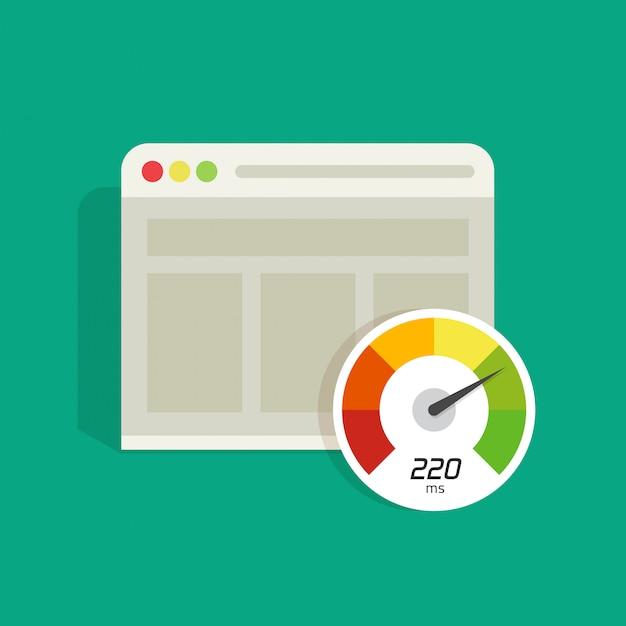 Вектор скорости загрузки сайта изолирован Premium векторы