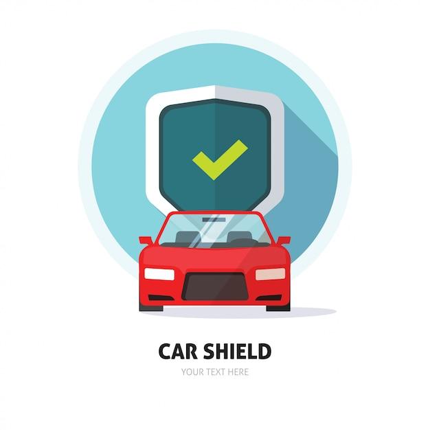 車のガードまたは保護シールドのサイン Premiumベクター
