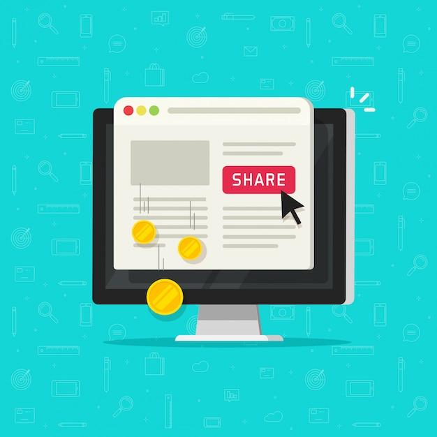 Технология оплаты за клик или стоимость за клик на веб-сайте компьютера Premium векторы