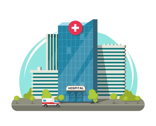 Здание больницы изолированы или современный медицинский центр клиника клипарт Premium векторы