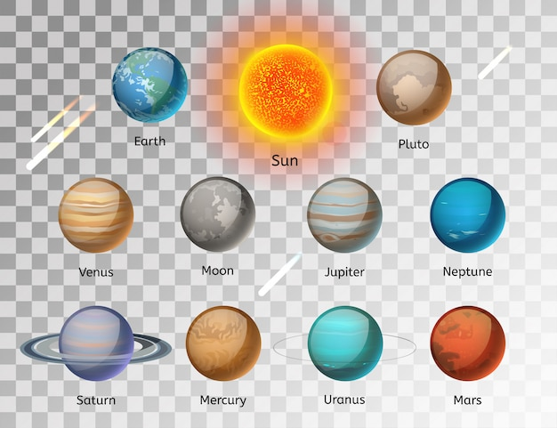 惑星カラフルなベクトルを設定 Premiumベクター