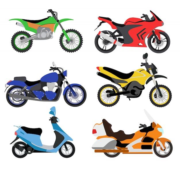 Векторная иллюстрация мотоциклов Premium векторы