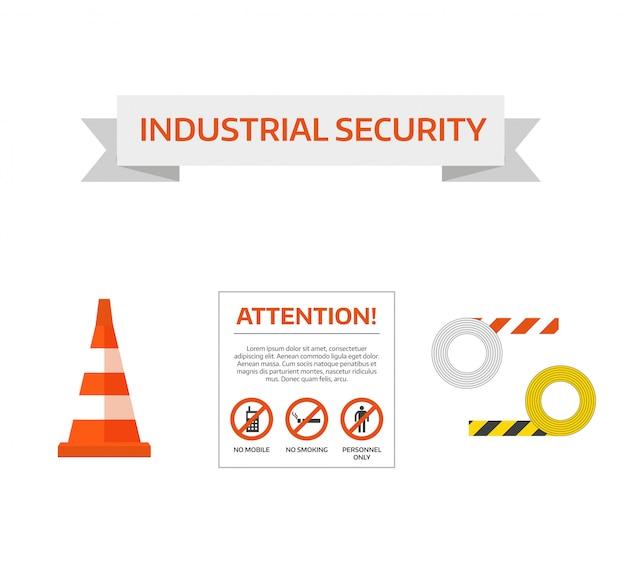 ベクトル安全第一道路標識工事中の看板コレクション Premiumベクター