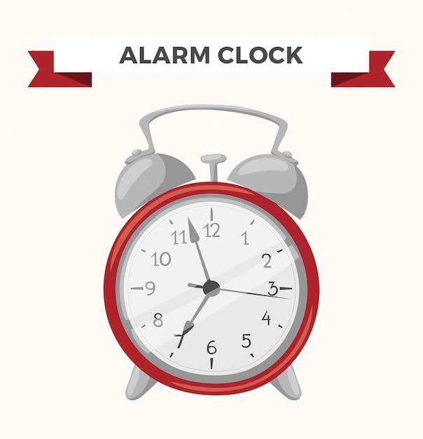 Часы часы будильник значок иллюстрации Premium векторы