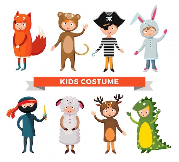 子供の衣装分離ベクトルイラスト Premiumベクター