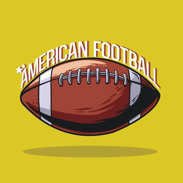 アメリカンフットボールの図 Premiumベクター