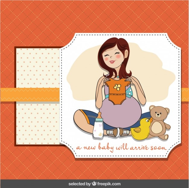 Открытки с беременностью девочкой