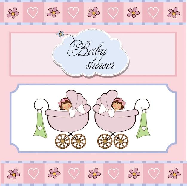 Девочку, открытки для новорожденных близнецов