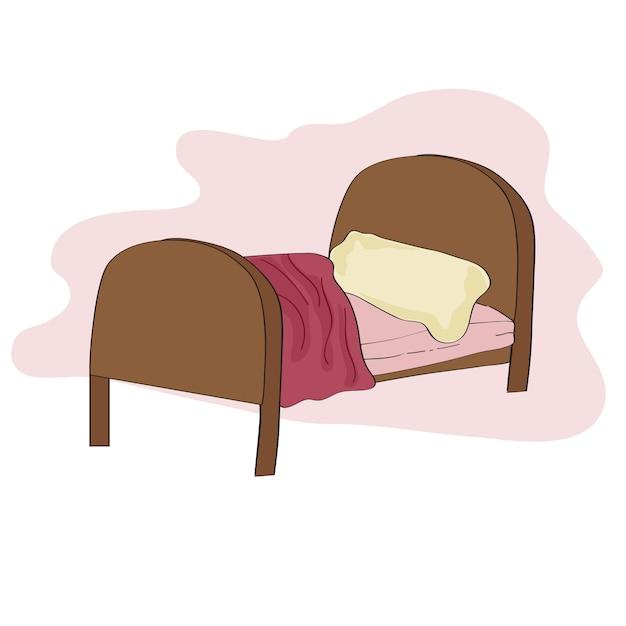 子供のベッドのイラスト 無料ベクター