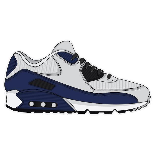 Спортивная обувь дизайн плаката Premium векторы