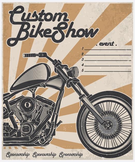 Постер на заказ для байк-шоу Premium векторы