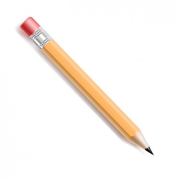 ゴムとの現実的な鉛筆 無料ベクター