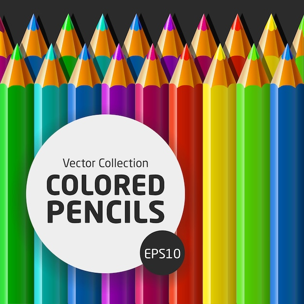 色鉛筆のベクトルコレクション Premiumベクター