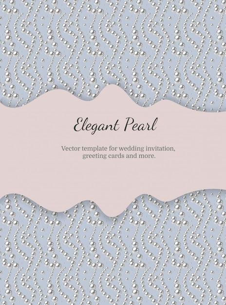 真珠のパターンを持つエレガントなテンプレート Premiumベクター