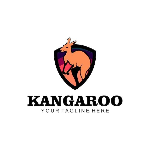 カンガルーのロゴ Premiumベクター