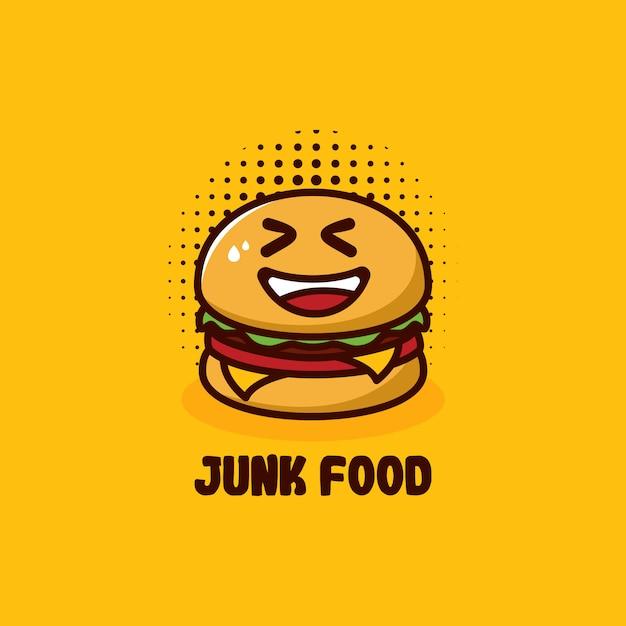 ジャンクフードのロゴ Premiumベクター