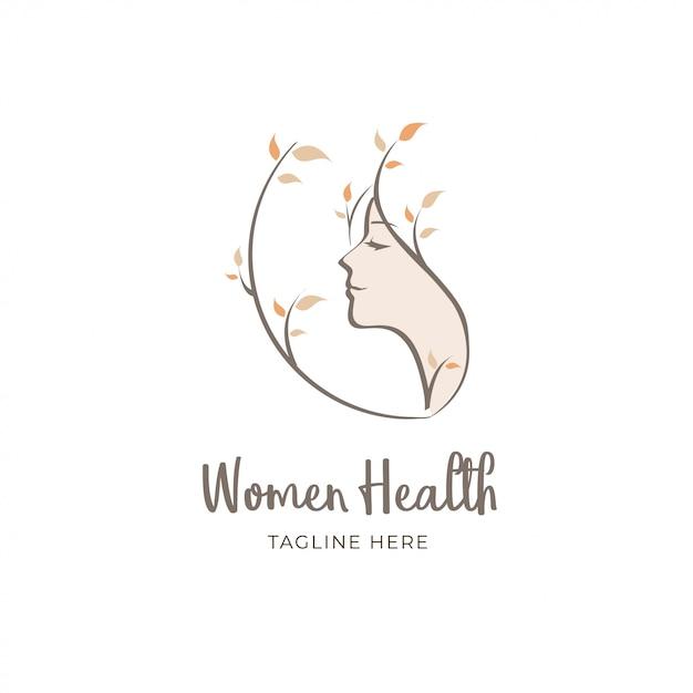 健康な女性のロゴ Premiumベクター