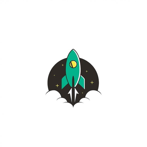 ロケットロゴ Premiumベクター